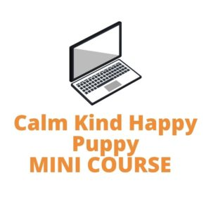Picture of a laptop Calm Kind Happy Puppy Mini Course