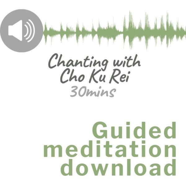 Audio download image for Guided meditation chanting with Cho Ku Rei