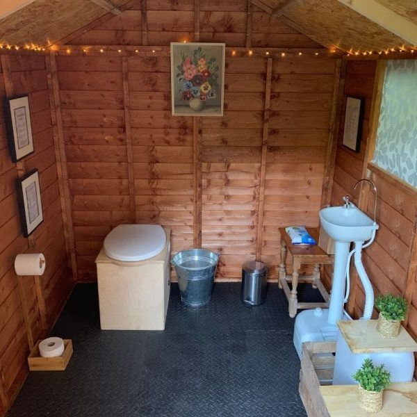 Picture of a small toilet cubicle